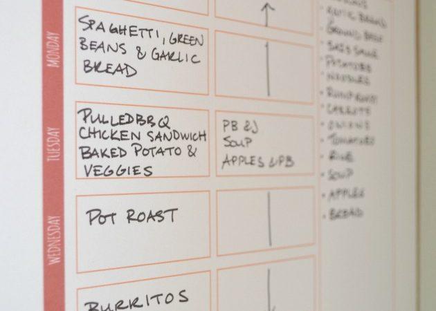 Meal Plan and Calendar Printable