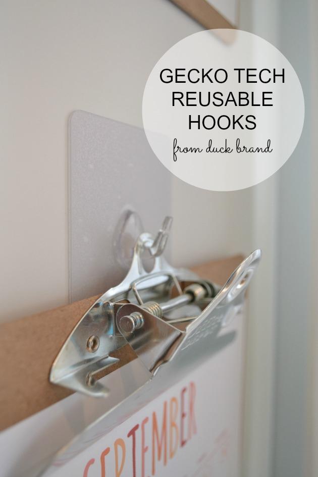 reusable hooks from Gecko Tech from Duck Brand