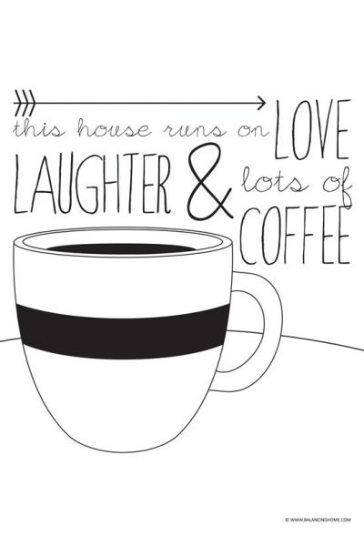 Coffee Quote Printable for National Coffee Day
