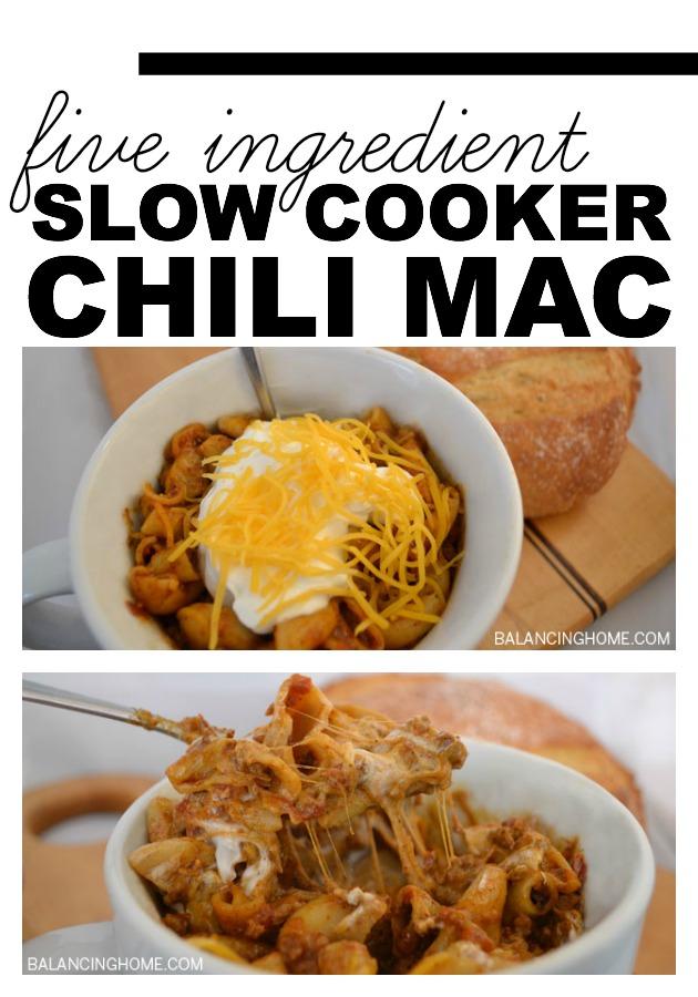FIVE INGREDIENT SLOW COOKER CHILI MAC