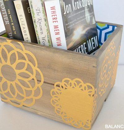 Gold Foil Doily Decoupaged Box