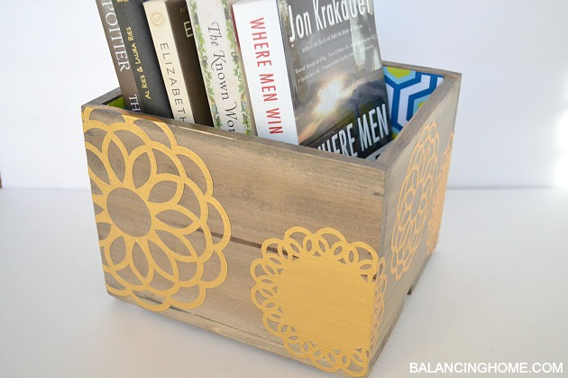 Gold Foil Doily Decoupaged Box