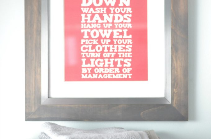 Bathroom Updates, Organization & Printable