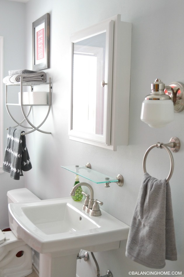 pedestal sink storage caddy bathroom updates amp printable balancing home