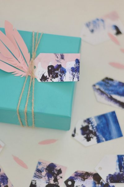Turning Kid Art into Gift Tags