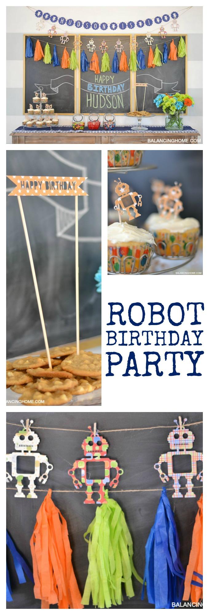 DIY Robot Birthday Decor
