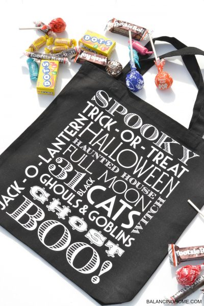 DIY Trick-or-Treat Halloween Tote
