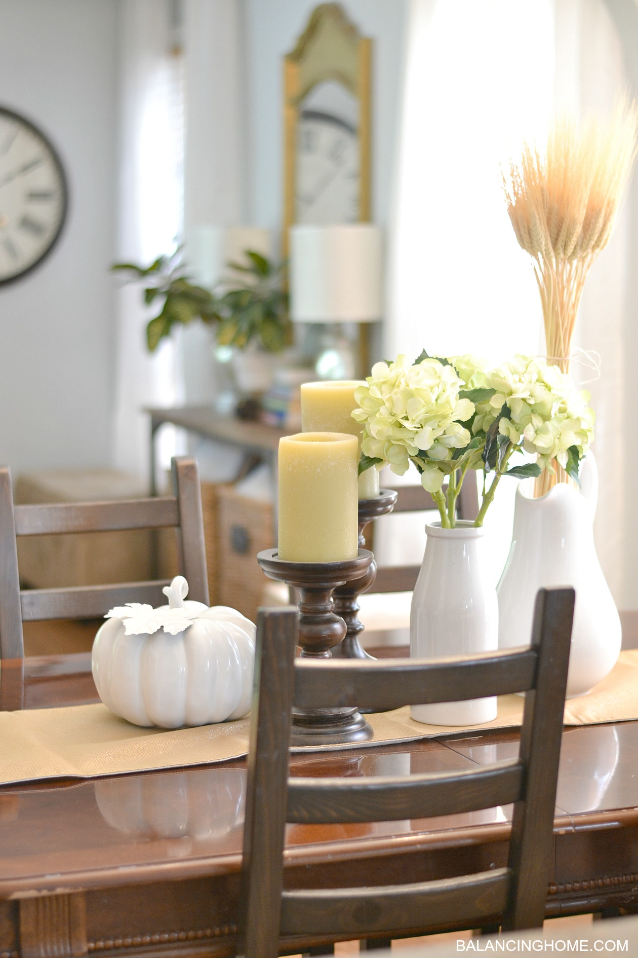 fall dining room table decorating ideas with traditional