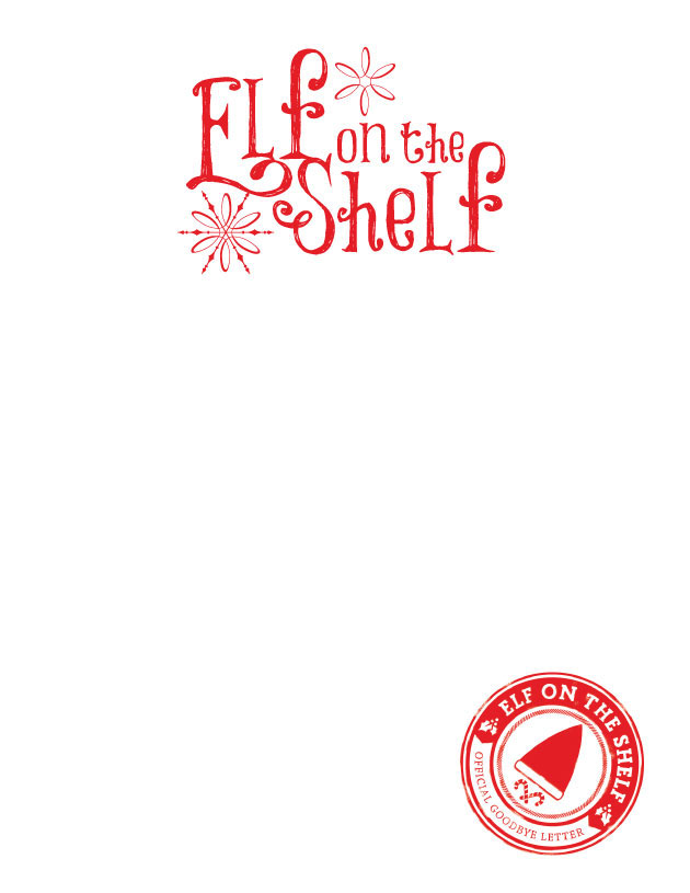 Single child–Elf on the Shelf Goodbye Letter