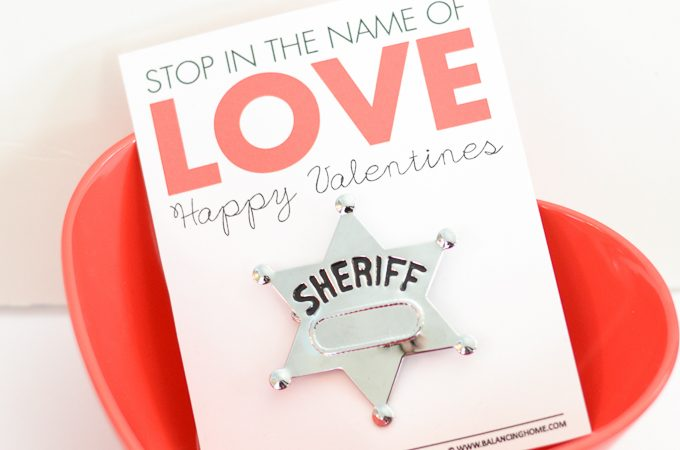 Stop In the Name of Love Printable Valentine