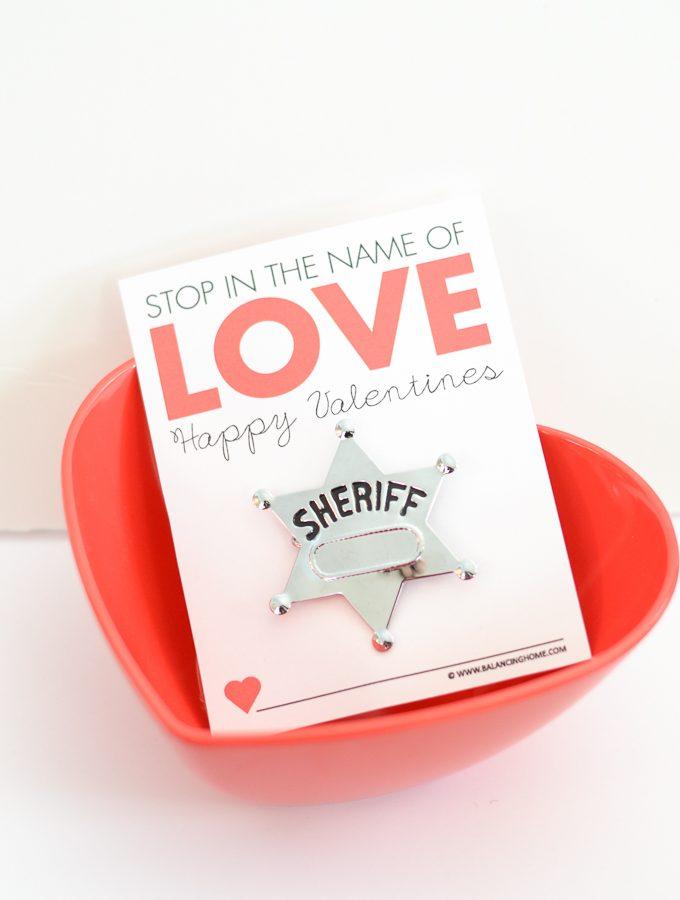 Stop In the Name of Love Printable Valentine