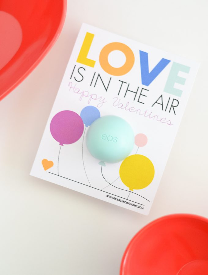 Love Is In the Air EOS Printable Valentine