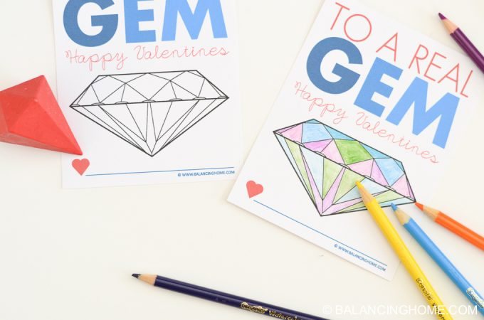 You are a Real Gem Printable Valentine