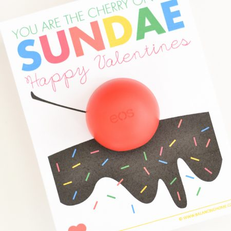 You are the Cherry on My Sundae EOS Printable Valentine