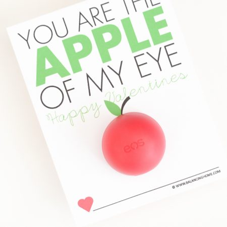 Apple of My Eye EOS Printable Valentine