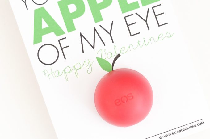 Apple of My Eye EOS Printable Valentine