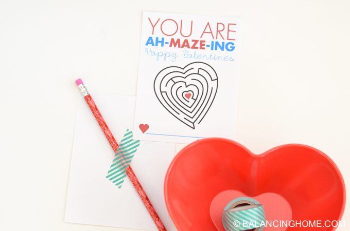 Maze Printable Valentine Activity