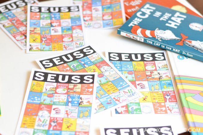 Dr. Seuss bingo printable activity