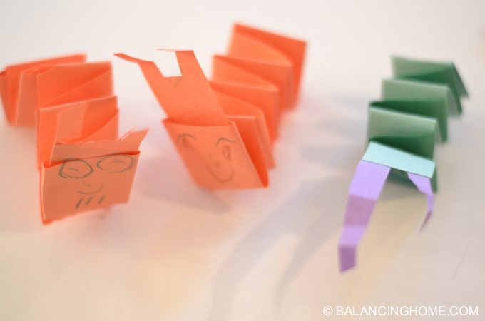 Kid Craft – Folded Paper Caterpillar