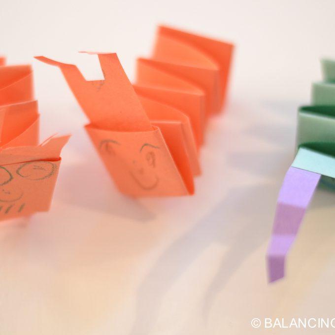 Kid Craft – Folded Paper Caterpillar