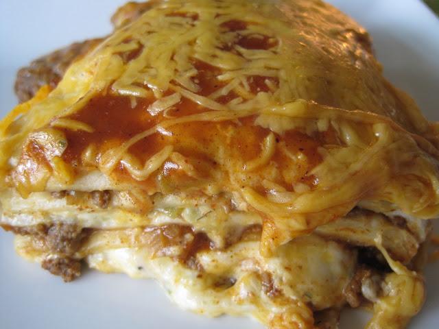 taco enchilada bake