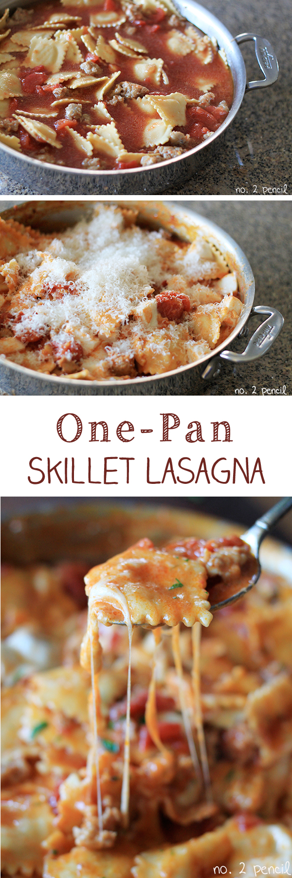 One-Pan-Skillet-Lasagna-Collage