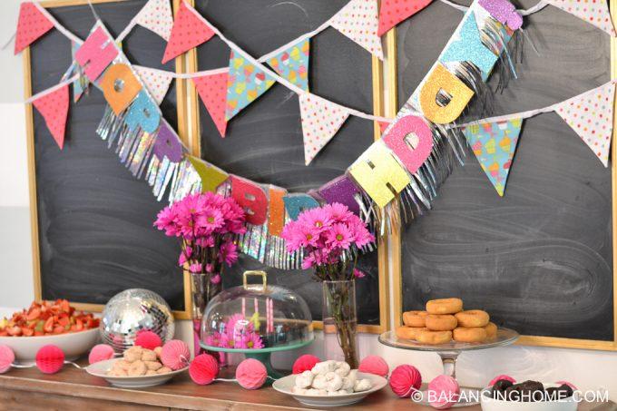 girl-pink-flower-pancake-breakfast-birthday-party-1