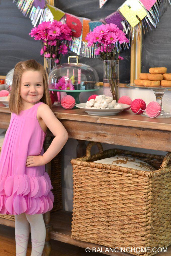 girl-pink-flower-pancake-breakfast-birthday-party-6