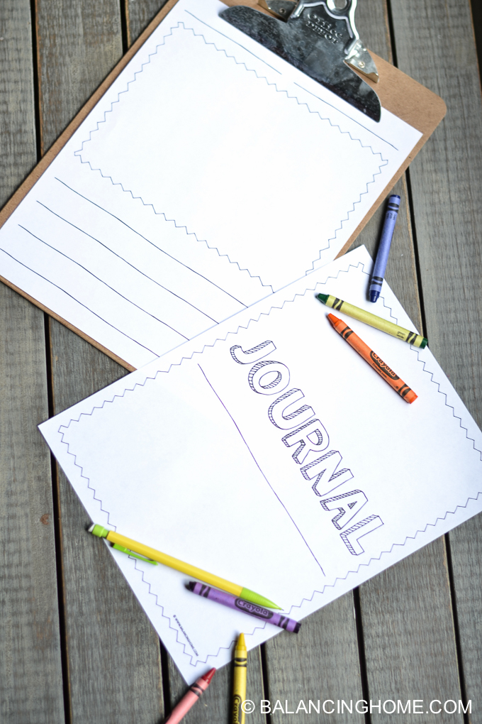 Kid Journal Pages Printable - Balancing Home