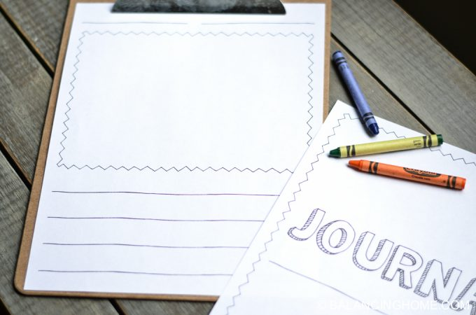 Kid Journal Pages Printable