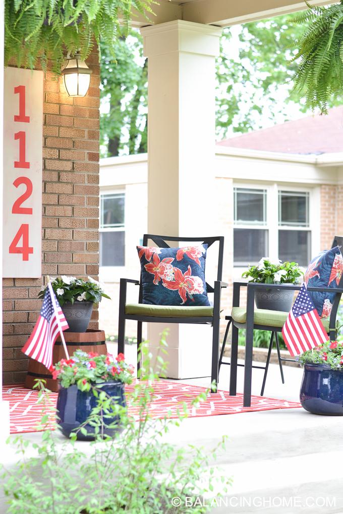 A Patriotic Porch Balancing Home
