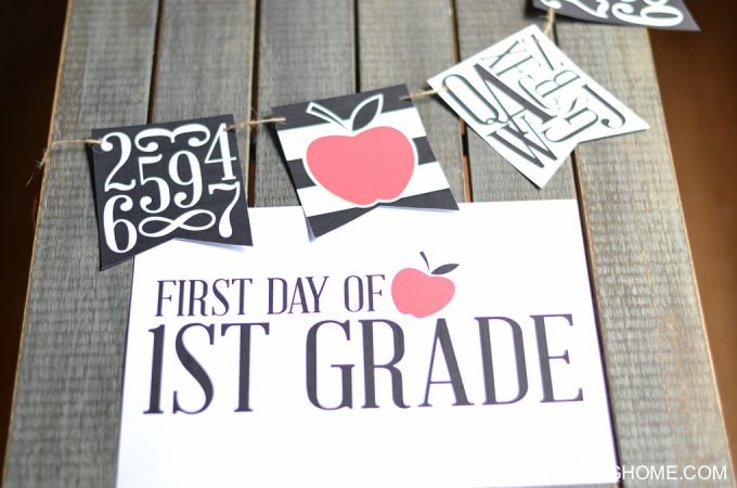 First Day of School Signs & Bunting