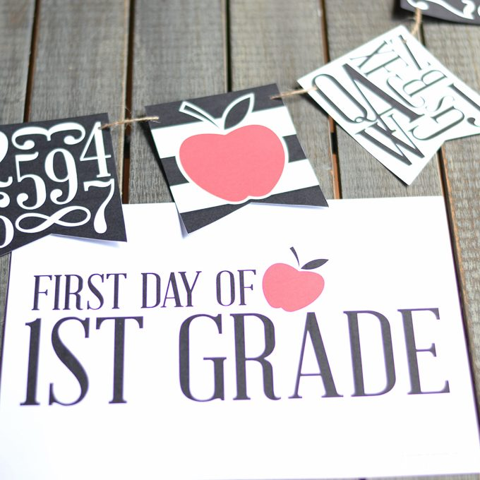 First Day of School Signs – Free Printable