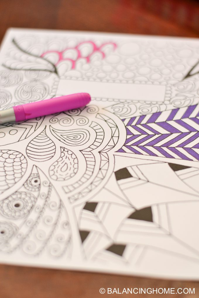 Coloring Page Binder Cover Printable Balancing Home