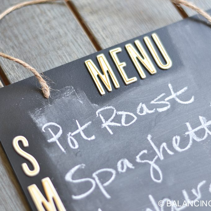 Simple, DIY Menu Board