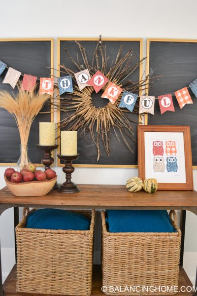 Thanksgiving Printable Pack & Fall Vignette