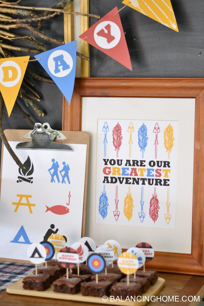 camping birthday party printables