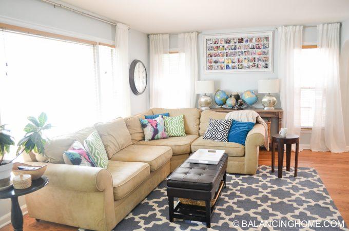 Living Room, Insta, Globes & Home Visits