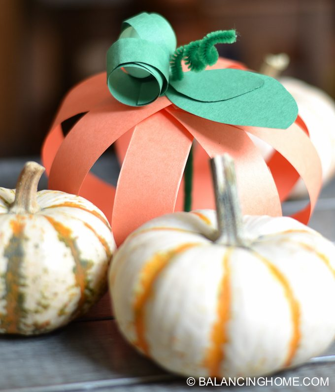 This paper strip pumpkin craft is simple, affordable and easy adapted for any age or decor.