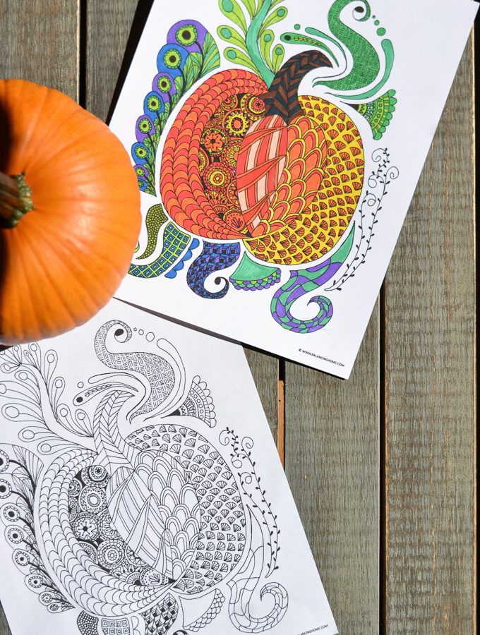 Coloring Pages- Free Printable Fall Pumpkin