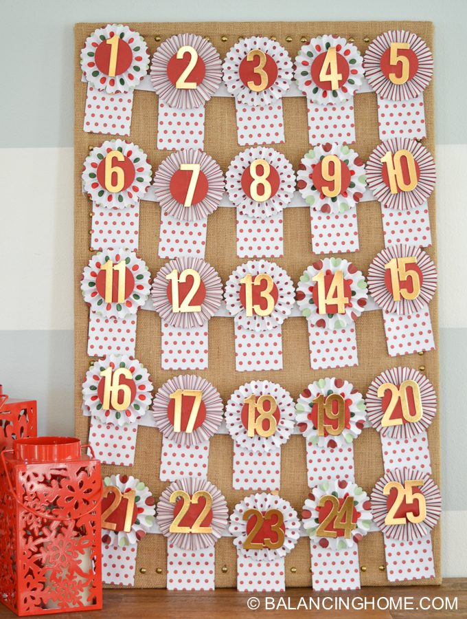 Advent Calendar Diy Kit : Diy advent calendar kit balancing home