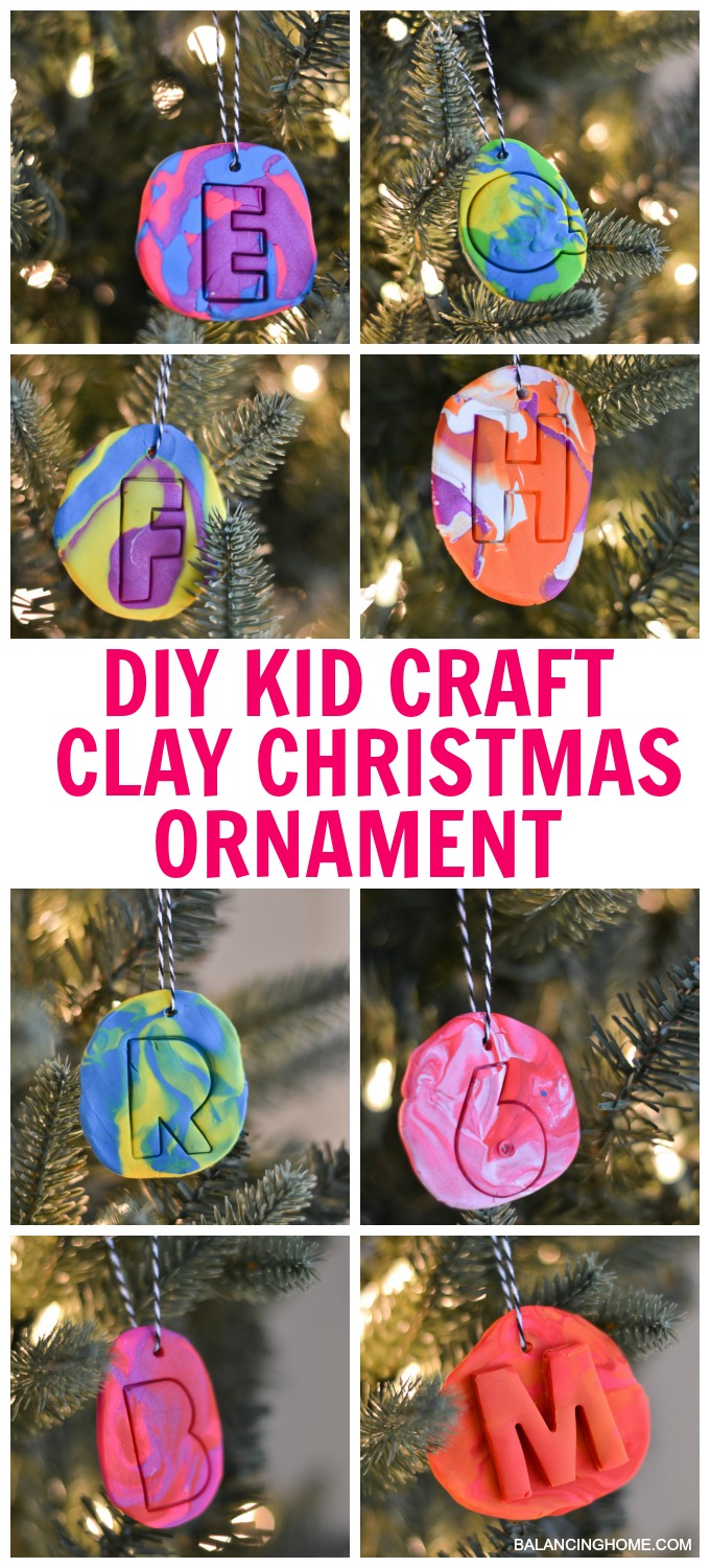 Diy Kid Craft Clay Christmas Ornaments Balancing Home
