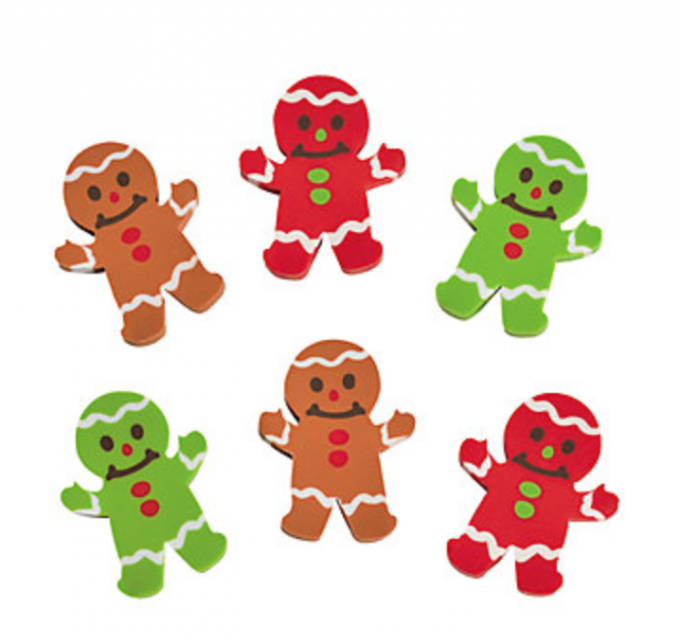 gingerbread erasers
