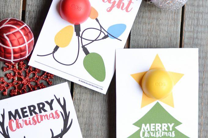 EOS Lip Balm Christmas Printable Gift