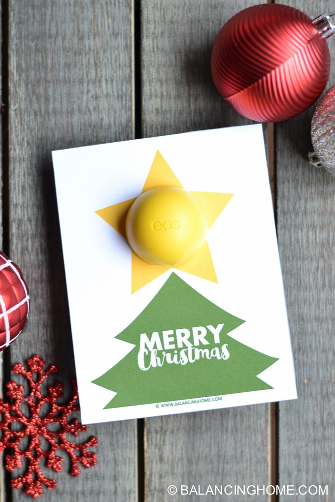 EOS Lip Balm Christmas Printable Gift