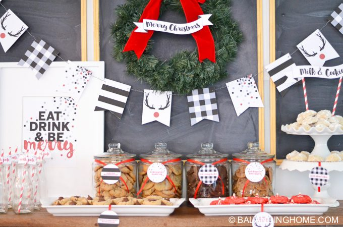 Holiday Cookie Bar & Christmas Printables