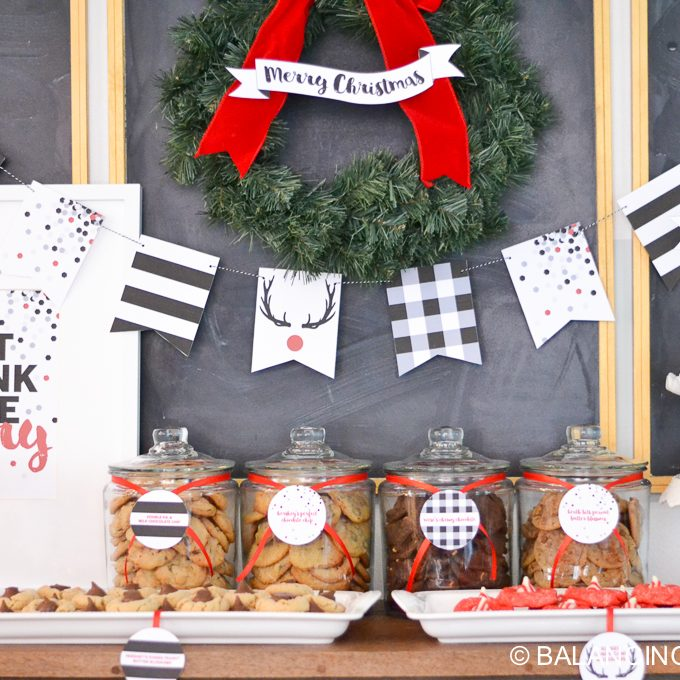Holiday Cookie Bar & Christmas Printables