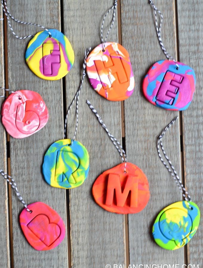 DIY Kid Craft- Clay Christmas Ornaments