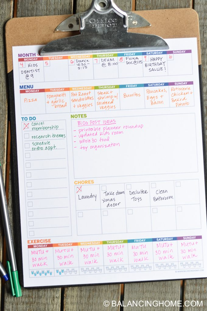 free planner printable! Weekly printable planner set up with a weekly planner template