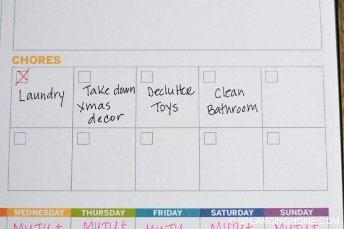 weekly planner printable 4